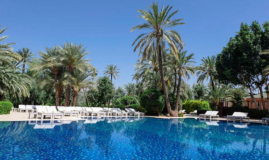 Het zwembad van Club Med la Palmeraie