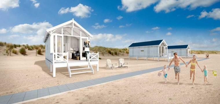 Vakantiehuisje aan het strand van Den Haag winnen