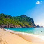Het strand van Alanya Turkije