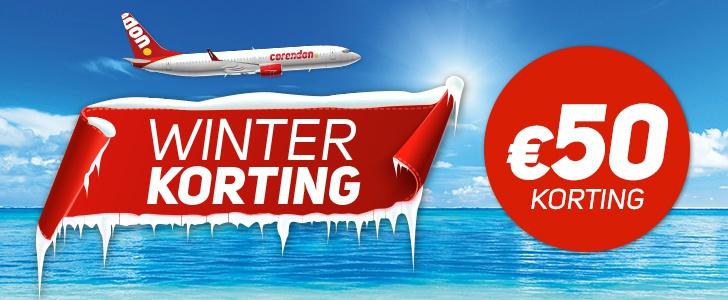 Winterkorting Corendon | €50,- Korting op Vele Vakanties